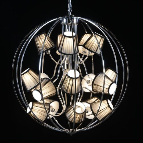 Sphere Chandelier with 16 Shades